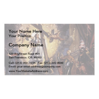 Titian- Doge Antonio Grimani Kneeling Before Faith Double-Sided Standard Business Cards (Pack Of 100)