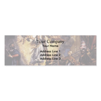 Titian- Doge Antonio Grimani Kneeling Before Faith Double-Sided Mini Business Cards (Pack Of 20)