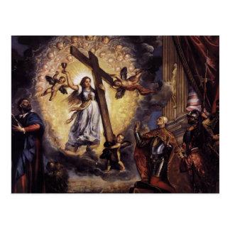 Titian- Doge Antonio Grimani Kneeling Before Faith Postcard