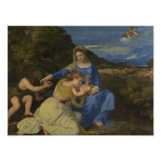 Titian - la Virgen y el niño con el niño Fotografía