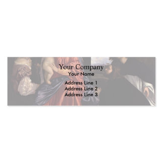 Titian- Madonna and Child with Saints Double-Sided Mini Business Cards (Pack Of 20)