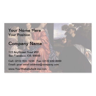 Titian- Madonna and Child with Saints Double-Sided Standard Business Cards (Pack Of 100)