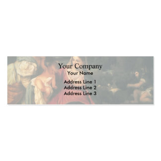Titian- Madonna, Child, St. Catherine & a Rabbit Double-Sided Mini Business Cards (Pack Of 20)