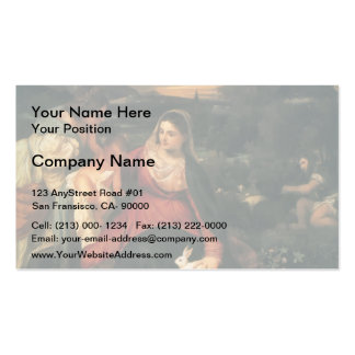 Titian- Madonna, Child, St. Catherine & a Rabbit Double-Sided Standard Business Cards (Pack Of 100)