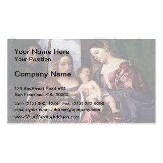 Titian- Madonna & Child with Sts Dorothy & George Double-Sided Standard Business Cards (Pack Of 100)