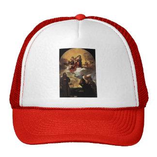 Titian- Madonna en gloria con el niño de Cristo Gorras