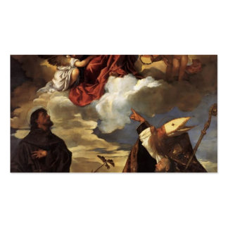 Titian- Madonna in Glory with the Christ Child Double-Sided Standard Business Cards (Pack Of 100)