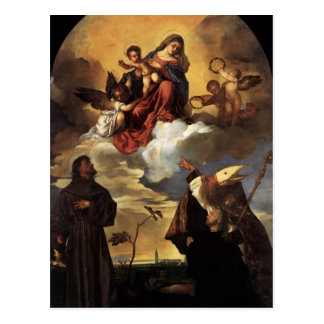Titian- Madonna in Glory with the Christ Child Postcard