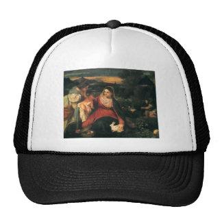 Titian- Madonna, niño, St. Catherine y un conejo Gorro