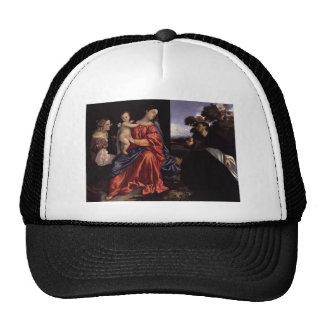 Titian- Madonna y niño con los santos Gorras