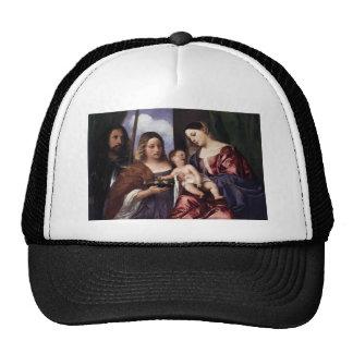 Titian- Madonna y niño con Sts Dorothy y George Gorras De Camionero