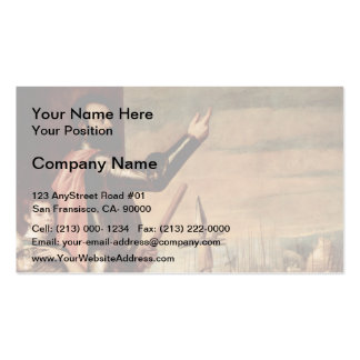Titian- Marchese del Vasto Addressing his Troops Double-Sided Standard Business Cards (Pack Of 100)