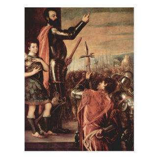 Titian- Marchese del Vasto Addressing his Troops Postcard