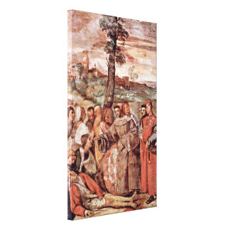 Titian - Miracle of healing of a severed leg Stretched Canvas Prints