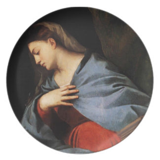 Titian- Polyptych of the Resurrection Virgin Dinner Plates