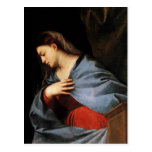 Titian- Polyptych of the Resurrection Virgin Post Card