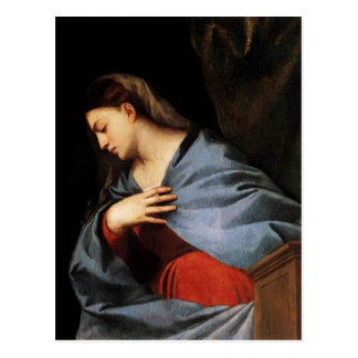 Titian- Polyptych of the Resurrection Virgin Postcard
