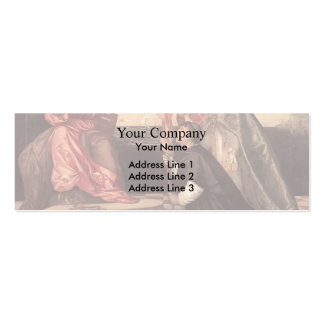 Titian:Pope Alexander IV Presenting Jacopo Pesaro Double-Sided Mini Business Cards (Pack Of 20)