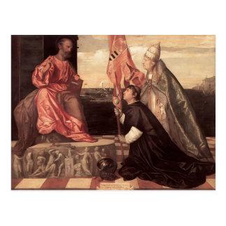 Titian:Pope Alexander IV Presenting Jacopo Pesaro Postcard