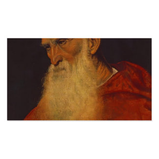 Titian- Portrait of an Old Man (Pietro Bembo) Double-Sided Standard Business Cards (Pack Of 100)