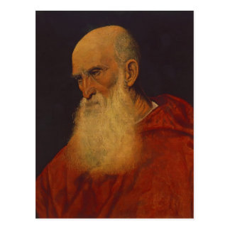 Titian- Portrait of an Old Man (Pietro Bembo) Postcard