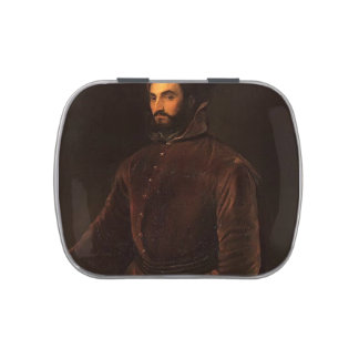 Titian- Portrait of Ippolito de Medici Jelly Belly Candy Tin