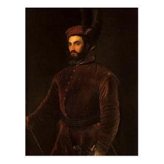 Titian- Portrait of Ippolito de Medici Postcard