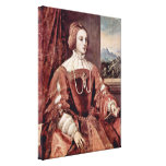 Titian - Portrait of Isabella of Portugal Stretched Canvas Print