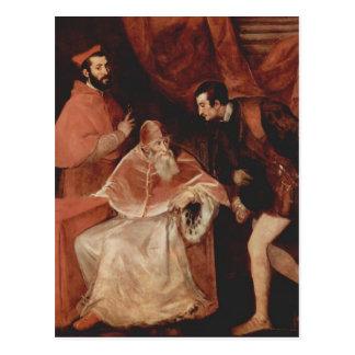 Titian- Portrait of Pope Paul III Postcard