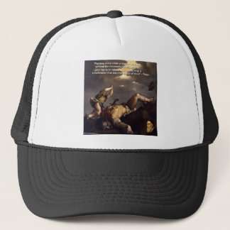 Titian Quote & David/Goliath Painting Gifts Trucker Hat