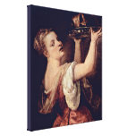 Titian - Salome with head of John the Baptist Stretched Canvas Prints