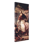 Titian - St John the Evangelist and the charity Canvas Print