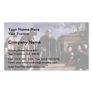 Titian- The Vendramin Family Venerating a Relic Double-Sided Standard Business Cards (Pack Of 100)