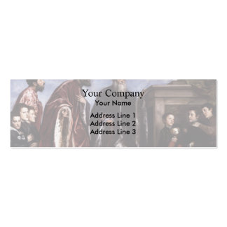 Titian- The Vendramin Family Venerating a Relic Double-Sided Mini Business Cards (Pack Of 20)