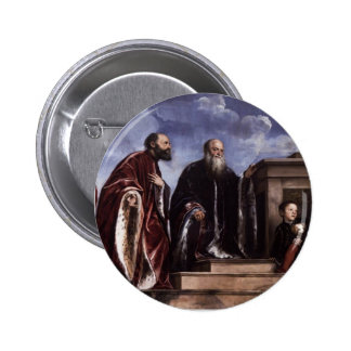 Titian- The Vendramin Family Venerating a Relic Buttons