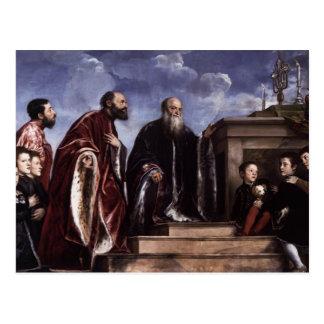 Titian- The Vendramin Family Venerating a Relic Postcard