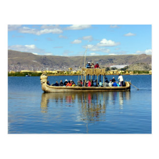 titicaca boat postcard