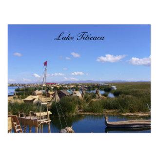 titicaca floating village postcard