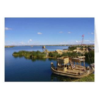 titicaca island boat card