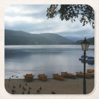 Titisee Lake Germany Paper Coaster Square Paper Coaster