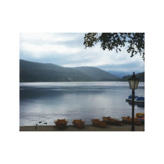 Titisee Lake Germany Poster Wrapped Canvas Canvas Print
