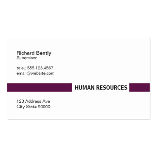 Title Bar (Palatinate Purple) Business Card