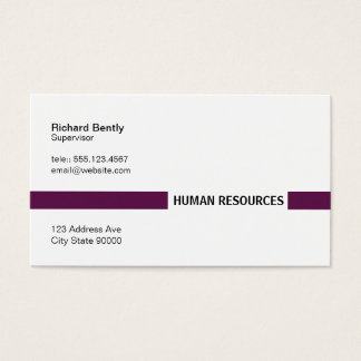 Title Bar (Palatinate Purple) Business Card