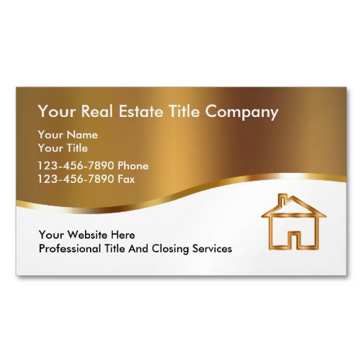 Title company business magnets zazzle for Business card title
