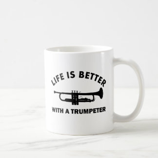 TITLE: Life is better with a trumpeters Coffee Mug
