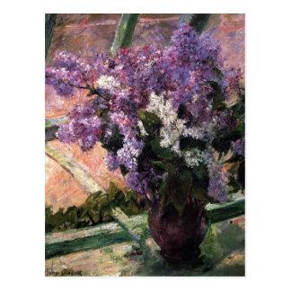 Title: Lilacs in a Window Date: 1880 Cassatt, Mary Postcard