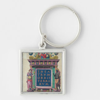 Title page, 3rd edition 'Theatrun Orbis Silver-Colored Square Keychain