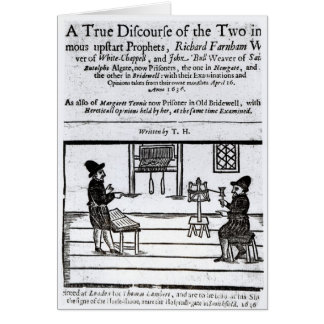 Title Page 'A True Discourse of the Two�' Greeting Card