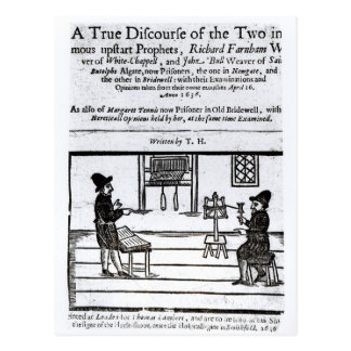 Title Page 'A True Discourse of the Two�' Postcard