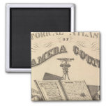 Title Page Alameda County atlas map 2 Inch Square Magnet